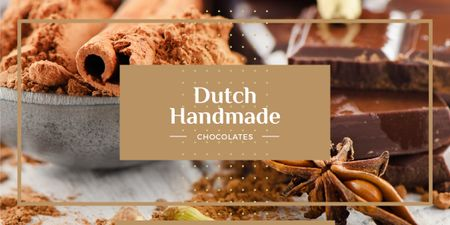 dutch handmade chocolate poster Image Modelo de Design