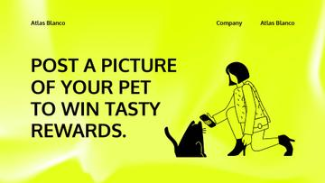 Pet Food Shop Giveaway with Girl and Cat