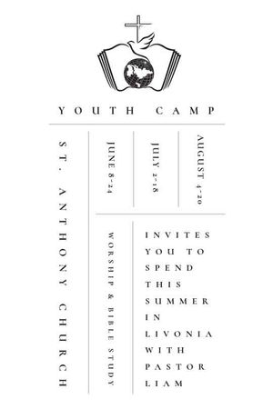 Ontwerpsjabloon van Tumblr van Youth religion camp Promotion in white