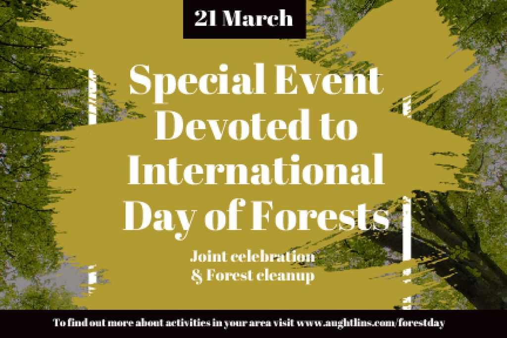 Special Event devoted to International Day of Forests — Створити дизайн