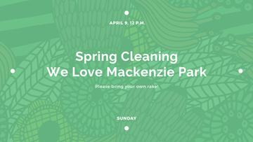 Spring Cleaning Event Invitation Green Floral Texture | Youtube Channel Art