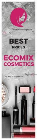 Ecomix cosmetics poster Skyscraper – шаблон для дизайна