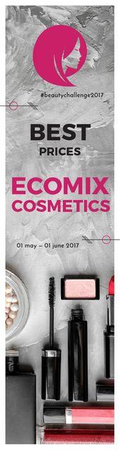 Szablon projektu Ecomix cosmetics poster Skyscraper