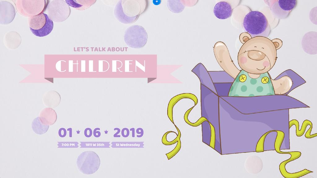 Teddy bear in gift box — Crear un diseño