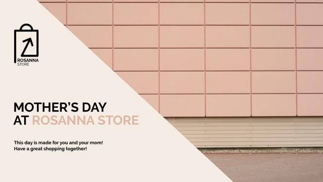 Mother's Day Offer with Women riding in shopping cart Full HD video Modelo de Design