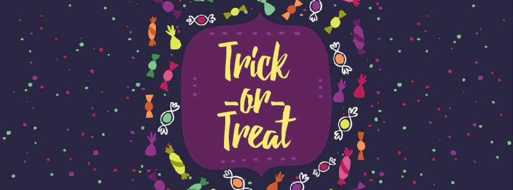 Halloween frame with sweets — Создать дизайн