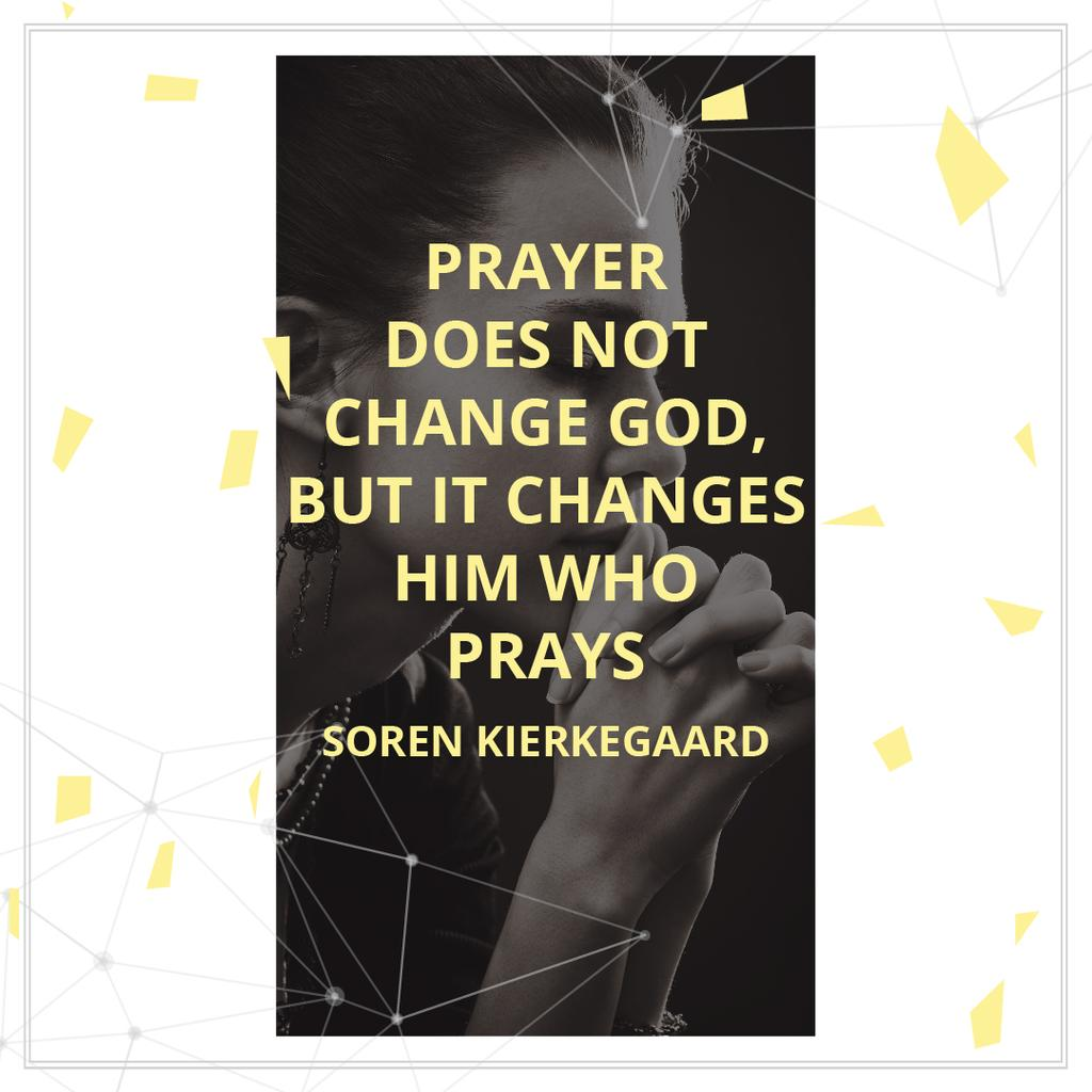 Religion Quote with Woman Praying — Crea un design