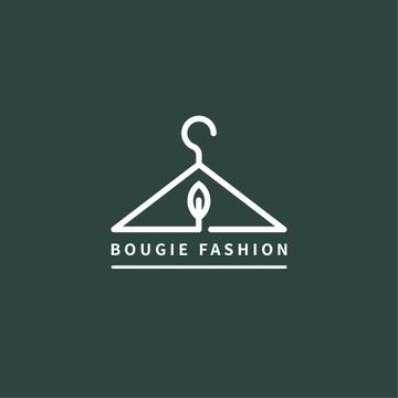 Fashion Ad Clothes Hanger in Green | Logo Template