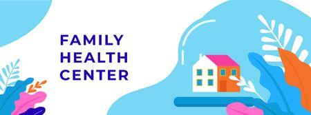 Modèle de visuel Healthcare concept with Home under Dome - Facebook cover