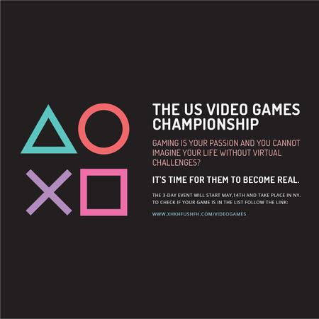 Video Games Championship announcement Instagram AD Modelo de Design
