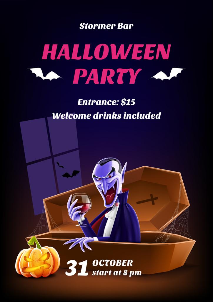 Halloween scary vampire — Create a Design