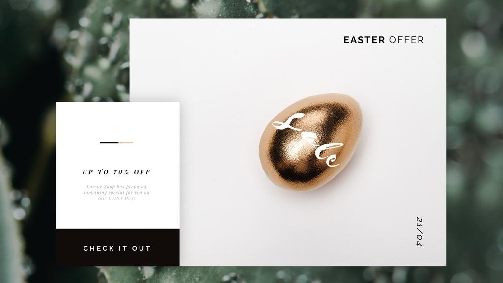 Golden Easter egg — Create a Design
