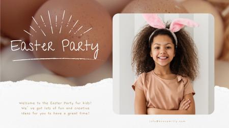 Modèle de visuel Easter Girl in Bunny Ears - Full HD video