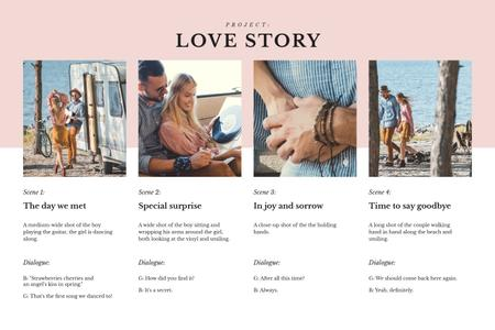 Ontwerpsjabloon van Storyboard van Stylish Couple by the Lake