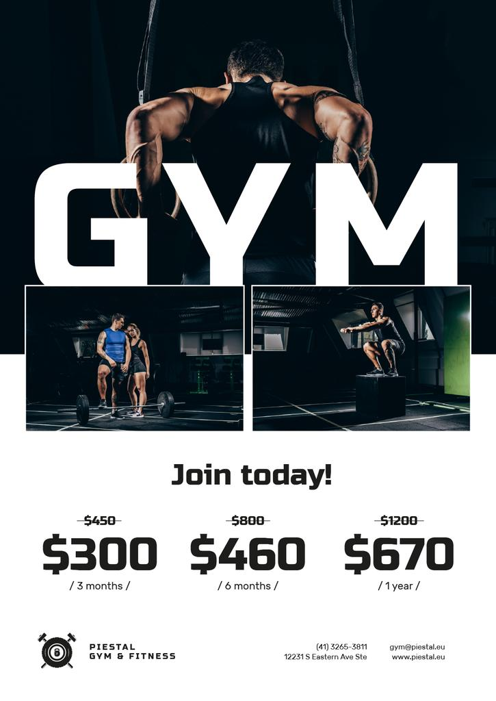 Gym Offer with People doing Workout — Create a Design