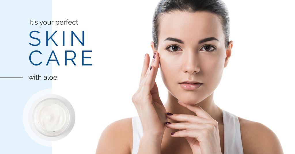 Skincare Offer with Tender Woman — ein Design erstellen