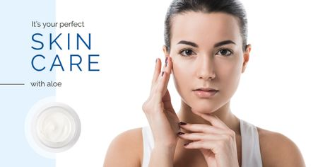 Szablon projektu Skincare Offer with Tender Woman Facebook AD