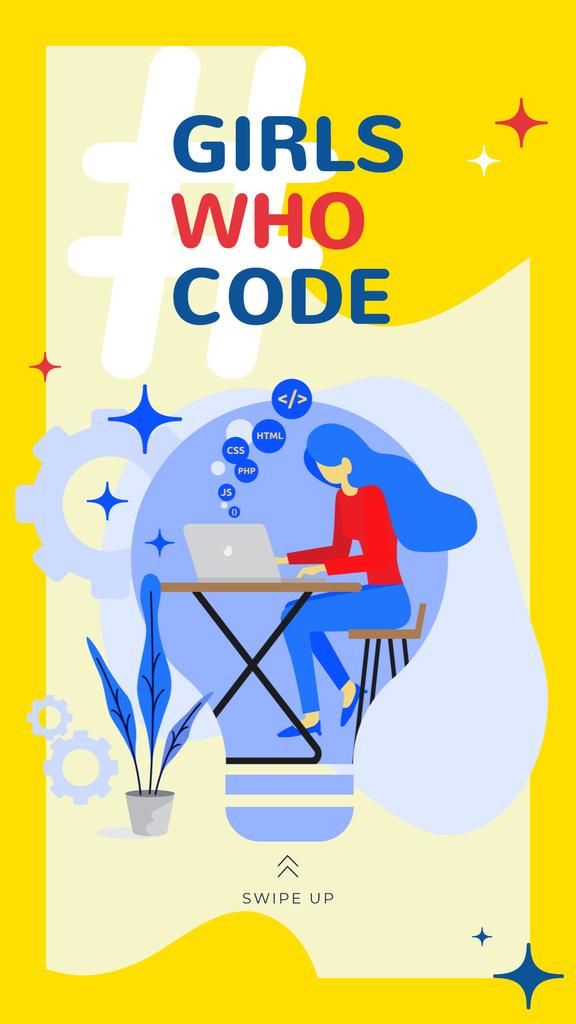 Woman working on laptop — ein Design erstellen
