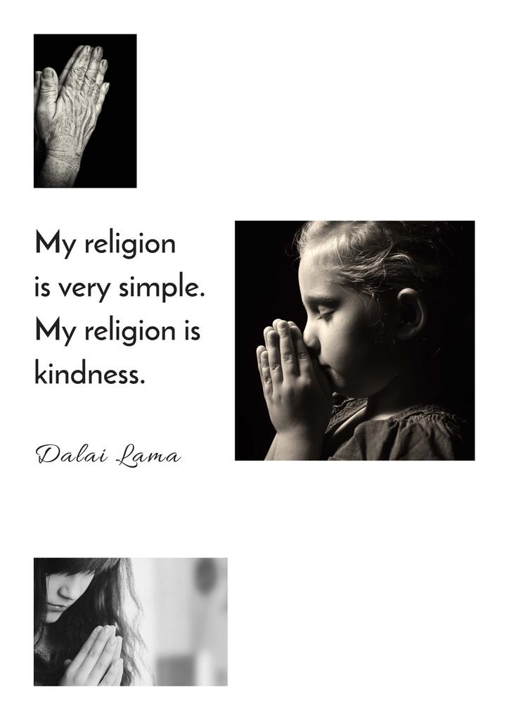 Religion citation about a prayer — ein Design erstellen