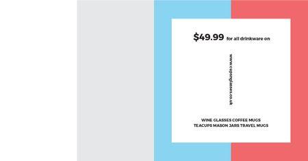 Drinkware Sale Offer Facebook AD Modelo de Design