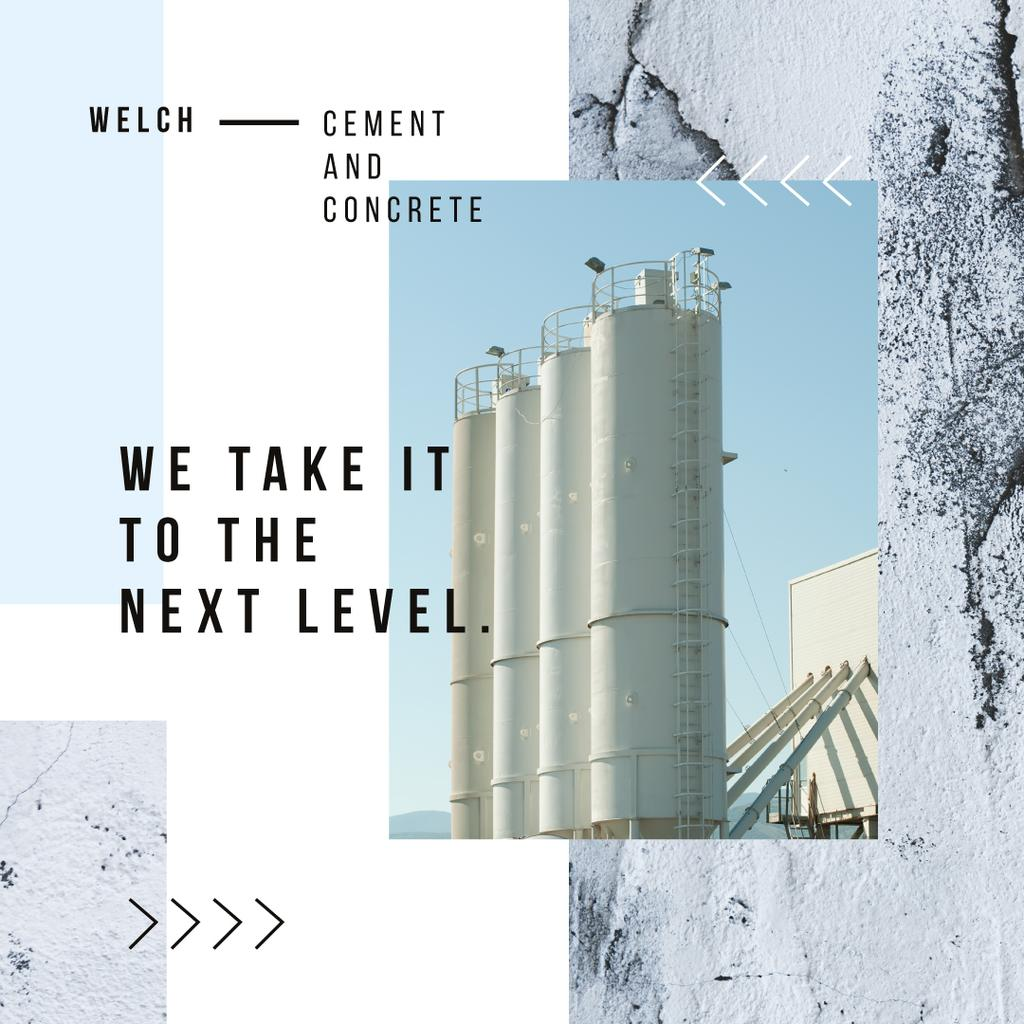 Cement Plant Large Industrial Containers Instagram AD – шаблон для дизайна