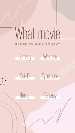 Ontwerpsjabloon van Instagram Story van Form about Movie genres