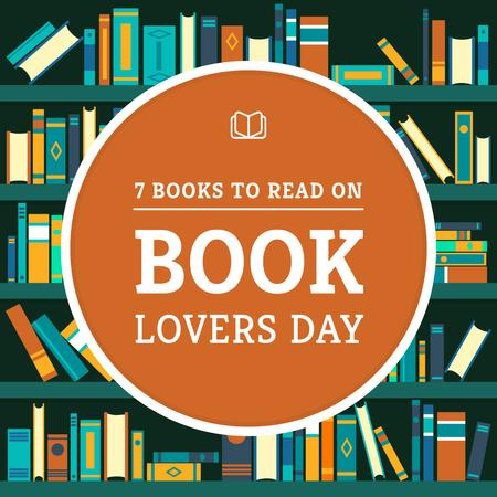 Book Lovers Day with Bookshelves Instagram – шаблон для дизайну