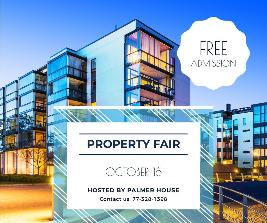 Property Fair Ad Modern House Facade — Maak een ontwerp