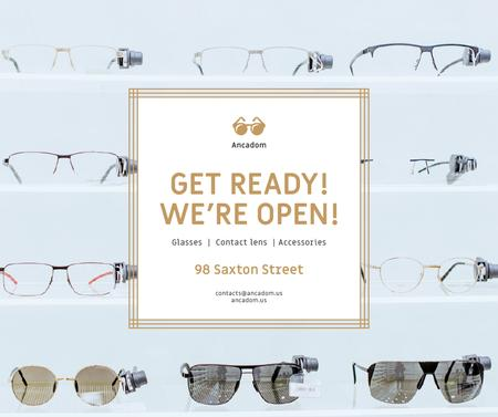 Plantilla de diseño de Glasses Store Opening Announcement Facebook