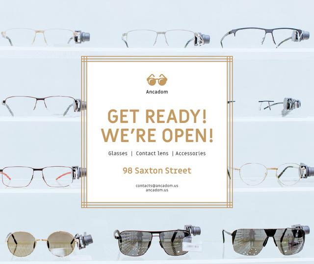 Modèle de visuel Glasses Store Opening Announcement - Facebook