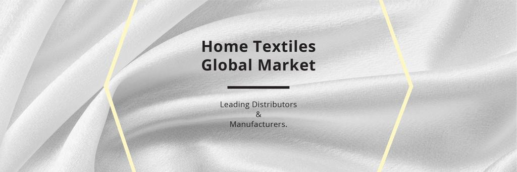 Home Textiles Events Announcement White Silk — Crea un design