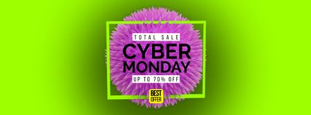 Cyber Monday Sale spiky digital sphere Facebook Video cover Modelo de Design