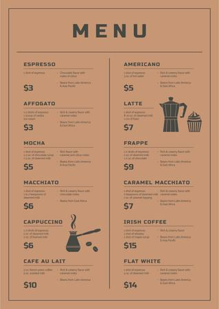Ontwerpsjabloon van Menu van Coffee Shop promotion