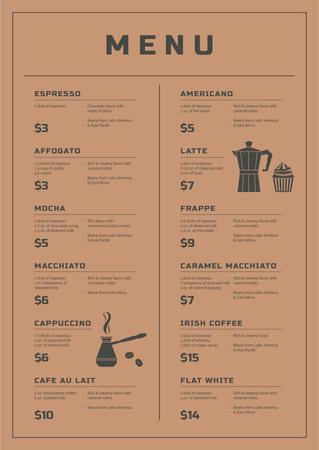 Designvorlage Coffee Shop promotion für Menu