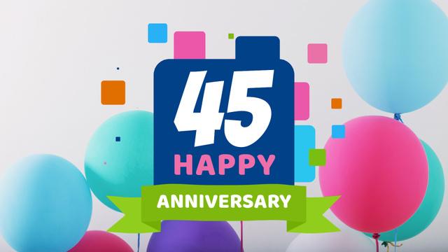 Anniversary celebration template Full HD video – шаблон для дизайну