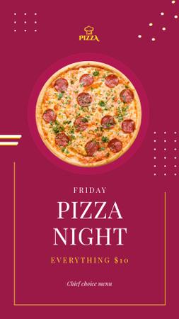 Modèle de visuel Hot Italian pizza - Instagram Story