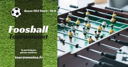 Foosball Tournament Announcement Facebook ADデザインテンプレート