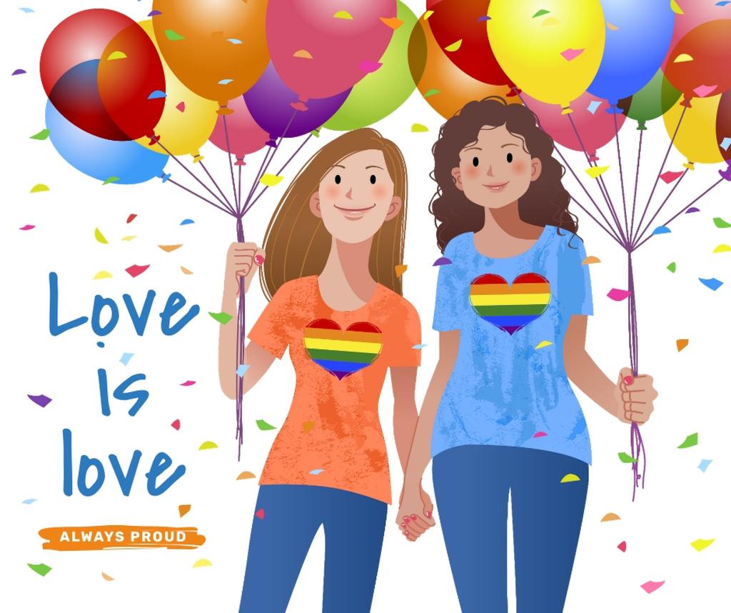 Women holding hands on Pride Month — Créer un visuel