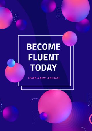 Ontwerpsjabloon van Poster van Language Course Offer