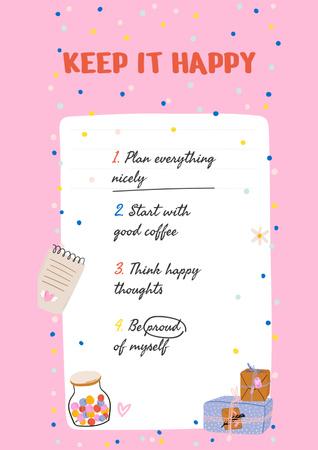 Mental Health Inspirational List Poster – шаблон для дизайну