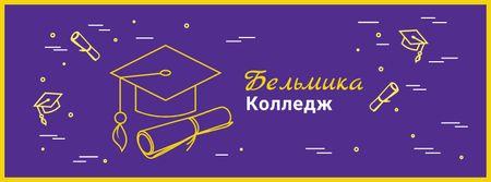 Choosing college tips with Graduation Cap Facebook cover – шаблон для дизайна