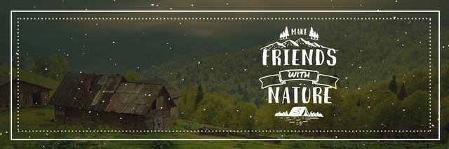 Plantilla de diseño de Nature Quote Scenic Mountain View Twitter