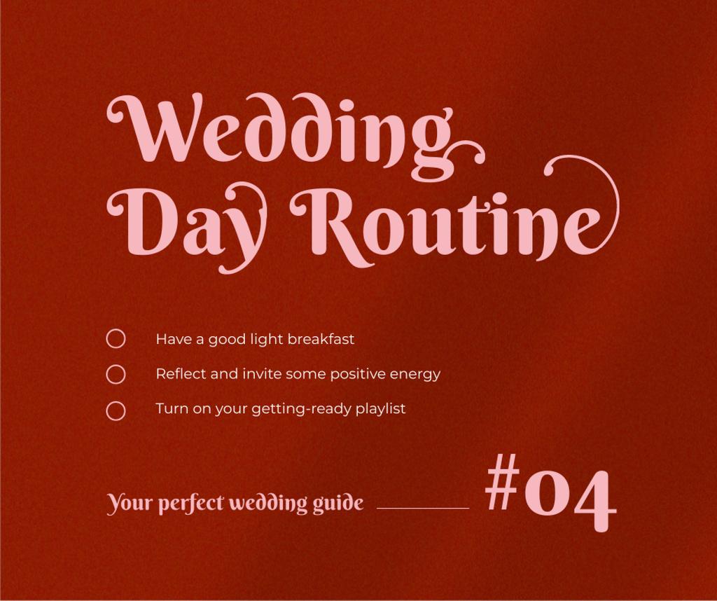 Modèle de visuel Wedding Day Guide Ad on Red - Facebook