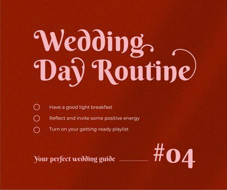 Wedding Day Guide Ad on Red Facebook – шаблон для дизайну
