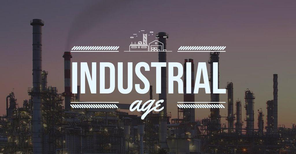 Air pollution concept with Big Industrial Plant — Создать дизайн