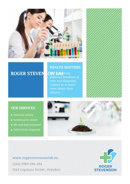 Laboratory services advertisement