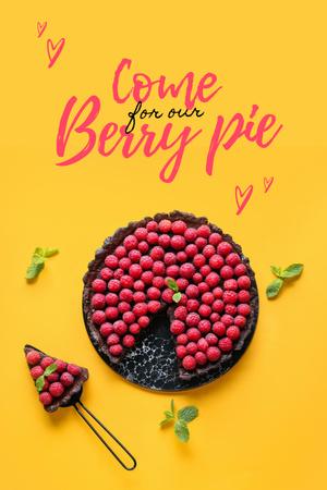 Ontwerpsjabloon van Pinterest van Delicious Raspberry Pie Offer