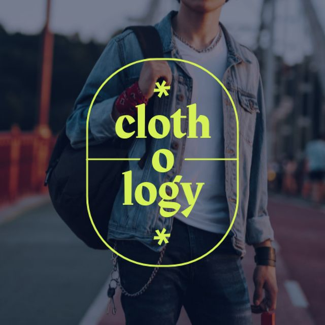 Stylish Young Man with Backpack Logo – шаблон для дизайну
