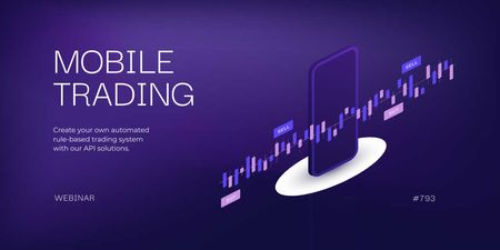 Ontwerpsjabloon van Twitter van Mobile Trading application promo