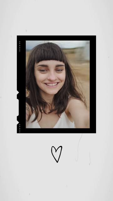 Happy Woman in Summer Field smiling on Camera TikTok Video – шаблон для дизайну